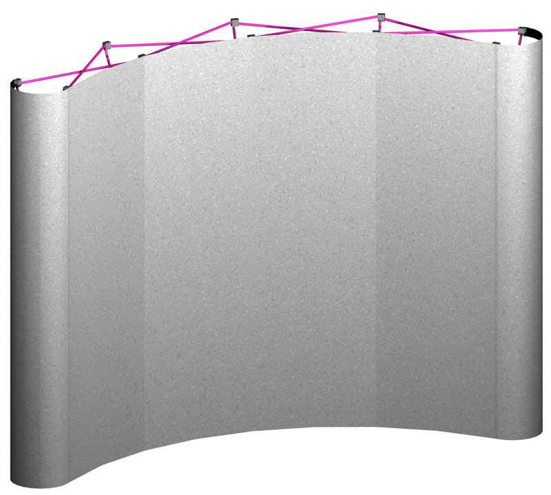 Fabric Pop Up Exhibition Stands : Floor curved pop up display with fabric panels