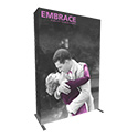 Embrace 2X3 Full Height Pop Up Display w/Full Fitted Tension Fabric Graphic