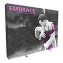 Embrace 4X3 Full Height Pop Up Display w/Full Fitted Tension Fabric Graphic