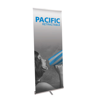 "39.25""W PACIFIC Banner Stand Single Sided"