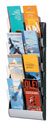 Wall Mount 4 Pocket Literature Display for 4x9 Brochures - SILVER