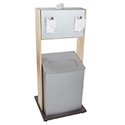 Freestanding Infection Prevention Center with Trash Receptacle
