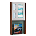 "15-1/4""w x 32""h Wall Mount Infection Prevention Center with Literature Rack"