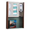 "22-1/4""w x 32""h Wall Mount Infection Prevention Center with Literature Rack"