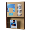 "22-3/4""w x 32""h Wall Mount Infection Prevention Center with Literature Rack"