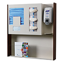 "32""w x 32""h Wall Mount Infection Prevention Center with Literature Rack"