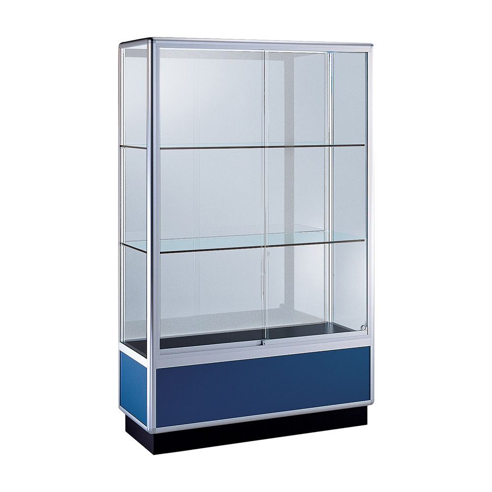 60 w x 72 h x 18 d display case w 4 plinth glass back for 18 x 60 window