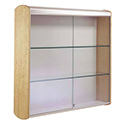 "36""w x 36""h x 9""d Wall Mount Display Case - Fabric Back"