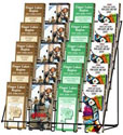 5 Tier Wire Literature Display, Black