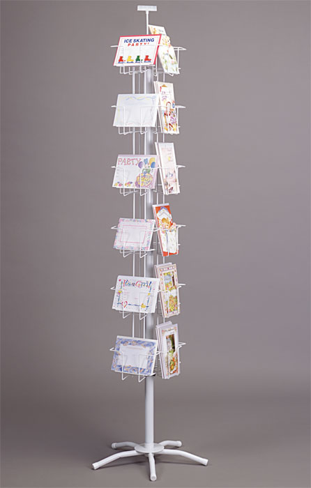 24 Pocket Combo Greeting Card Spinner Rack