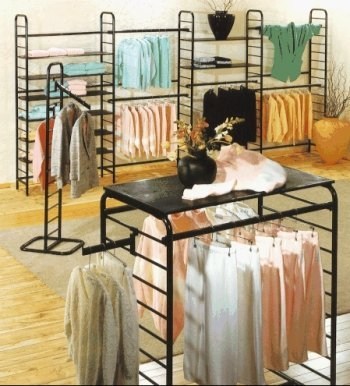 Ladder Clothing Rack System Example 1 Store Fixtures