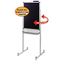 "Promo Stand Double Side, 24""W x 36""H, with Justick Surface Technology, Black"
