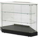 "39""W Corner Rear Access Frameless Display Case"