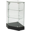 "36""H Corner Filler Frameless Display Case"