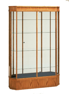 "48""W Red Oak Wall Octagon Display Case"