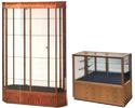 Red Oak Display Cases
