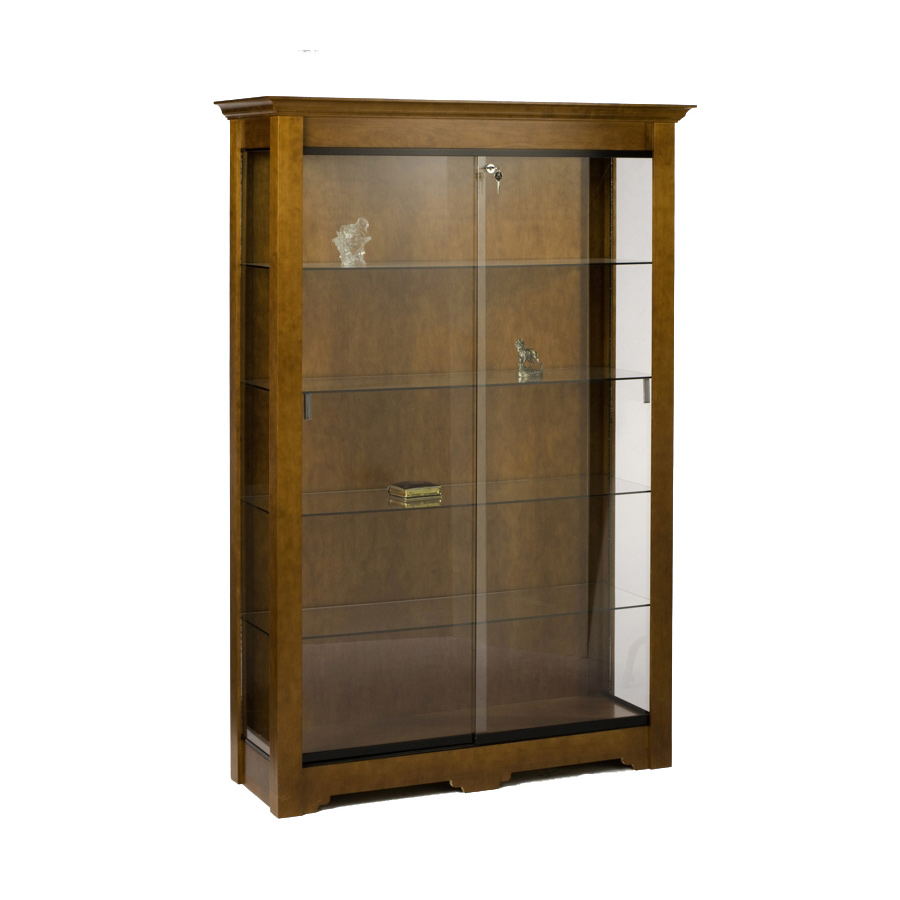 Wood Wall Display Case 76 Quot H X 48 Quot W Led Lights