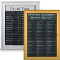 Enclosed Name Strip Directory Boards
