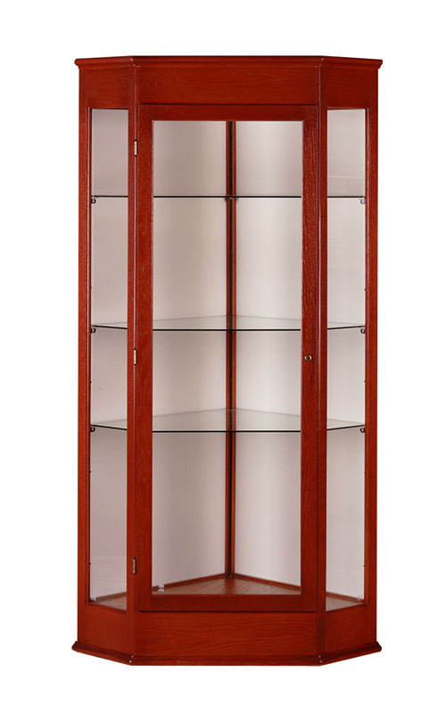 28 Quot W X 77 Quot H Varsity Corner Display Case W Hinged Door